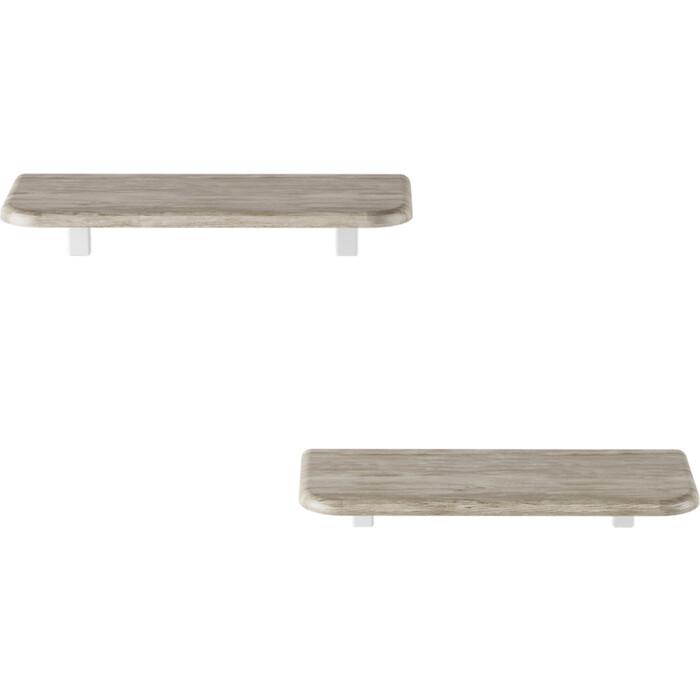 Полка Калифорния мебель Комплект Полок Сочи 450 дуб беленый