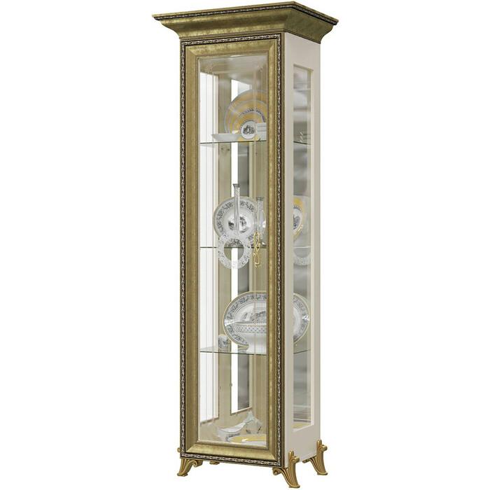 Шкаф 1-дверный Мэри Версаль ГВ-01 без короны №1 слоновая кость кровать мэри версаль св 04ш без короны 3 цвет слоновая кость 180