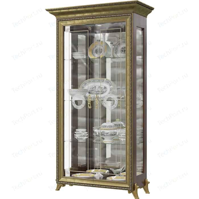 Шкаф 2-х дверный Мэри Версаль ГВ-02 без короны №2 орех тайский