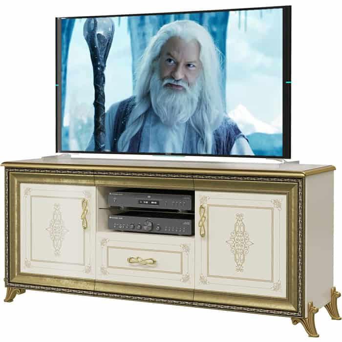 Тумба под ТВ Мэри Версаль ГВ-03 слоновая кость кровать мэри версаль св 04ш без короны 3 цвет слоновая кость 180