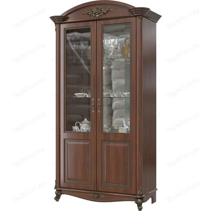 Шкаф 2-х дверный Мэри Да Винчи ГД-04 орех мегаэлатон обувной шкаф мегаэлатон бона 2 орех km8x5va