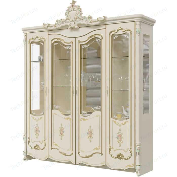 Шкаф 4-х дверный Мэри Шейх ГШ-05 слоновая кость