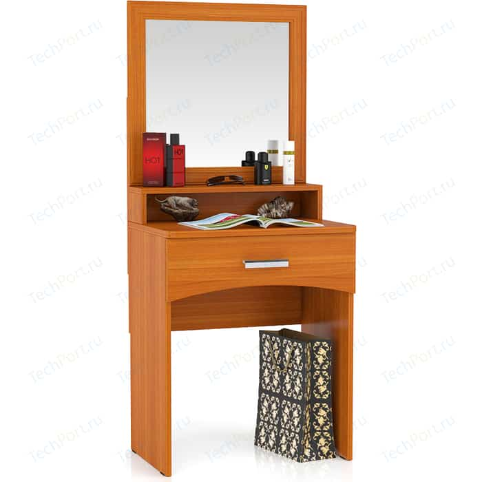 Столик туалетный с зеркалом Мебельный двор Белла вишня