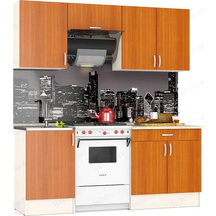 Кухня Мебельный двор Мери 1,92 дуб/вишня (ШВ-500+ШВв-600+ШВ-800, ШНМ-500+ШН1Я-800)