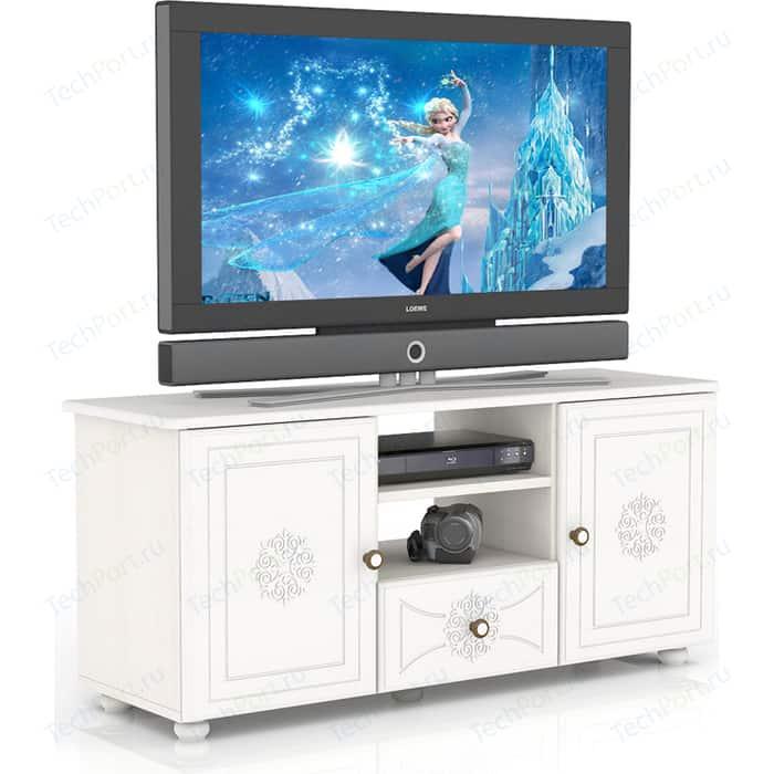 Тумба ТВ Мебельный двор Онега белая ТВ-10 белый