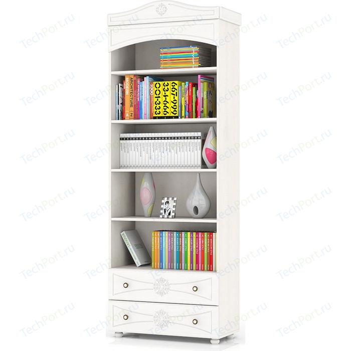 Шкаф книжный открытый с двумя ящиками Мебельный двор Онега белая ШК-36 белый
