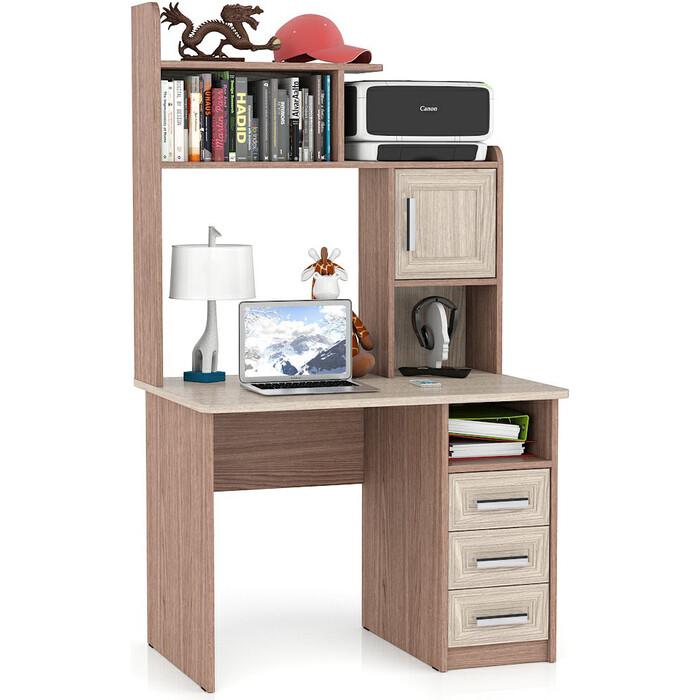 Стол компьютерный Мебельный двор С-МД-СК8 ясень шимо светлый/ясень шимо темный