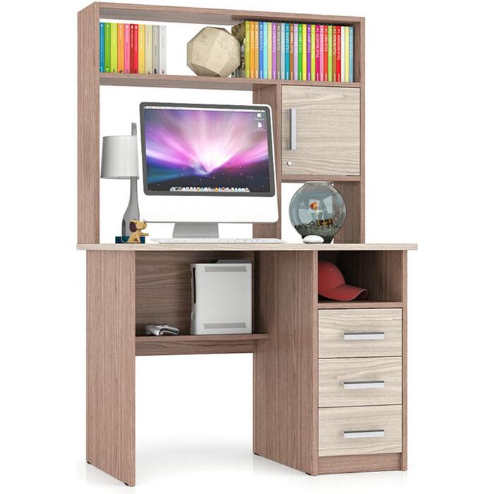Стол компьютерный Мебельный двор С-МД-СК9 ясень шимо светлый/ясень шимо темный