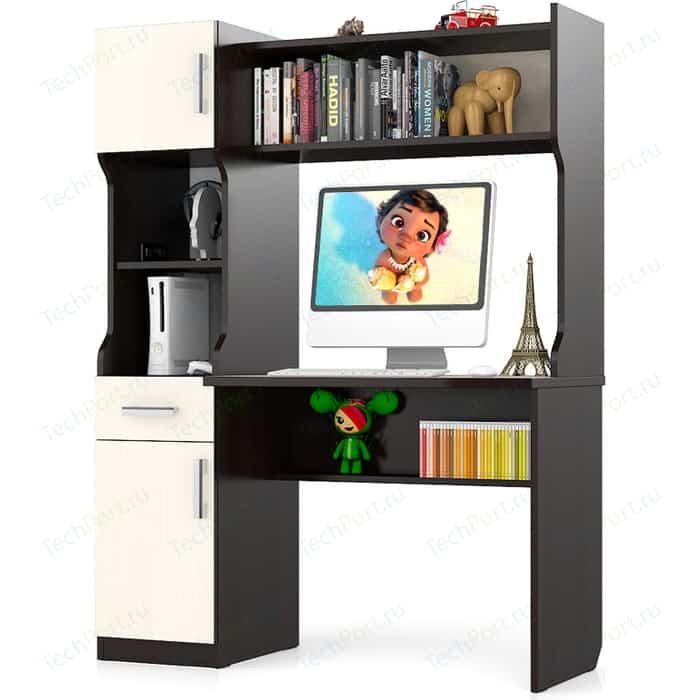 Стол письменный Мебельный двор С-МД-1-02 венге/дуб