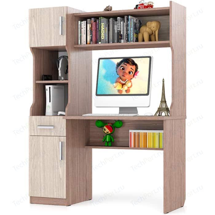 Стол письменный Мебельный двор С-МД-1-02 ясень шимо светлый/ясень шимо темный
