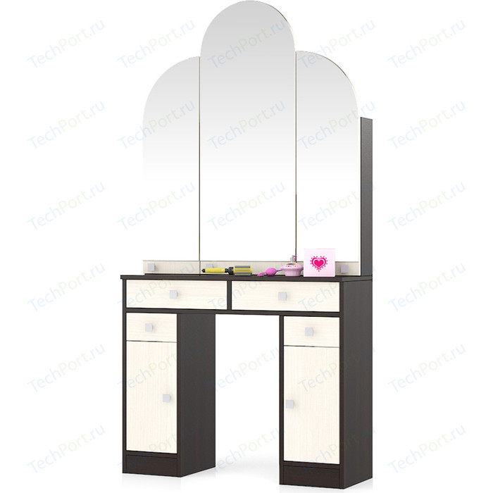 Туалетный столик Мебельный двор МД №2 венге/дуб