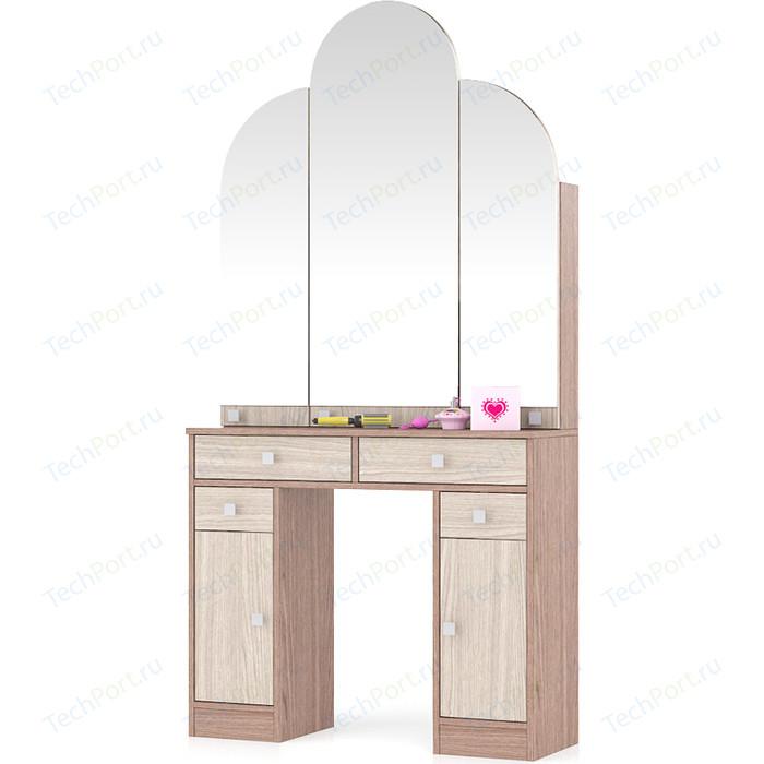 Туалетный столик Мебельный двор МД №2 ясень шимо светлый/ясень темный