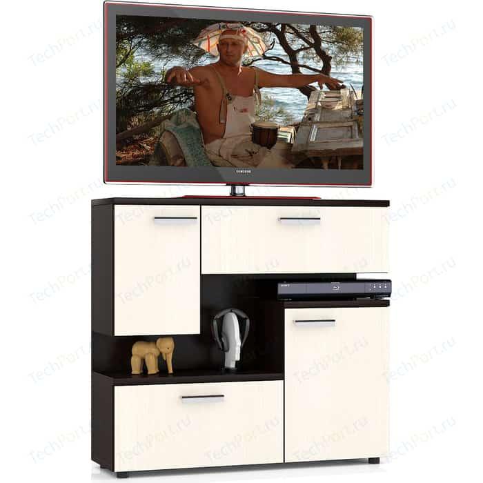 Тумба ТВ Мебельный двор С-МД-С1-1000, цвет дуб/венге, ШхГхВ 100х30х93 см.