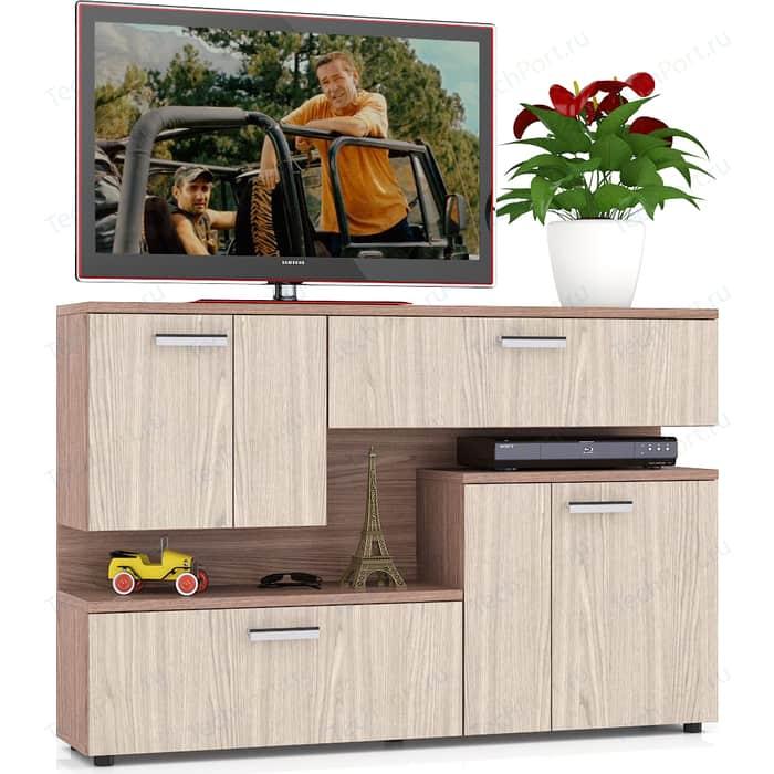 Тумба ТВ Мебельный двор С-МД-С1-1400 ясень шимо светлый/ясень темный