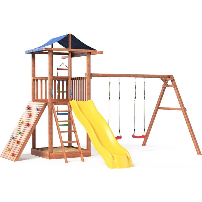 Детская площадка Красная звезда Спортивный городок со скалодромом Р908