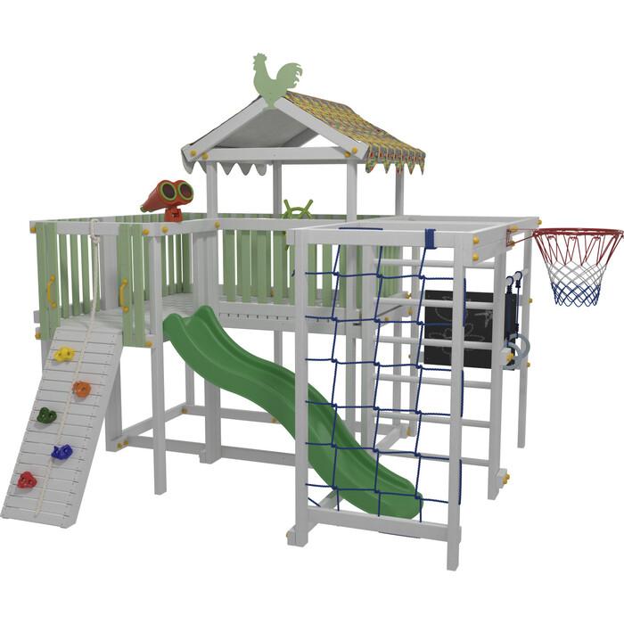 Детский домашний игровой комплекс Можга Красная Звезда чердак ДК3Б (бирюзовый)