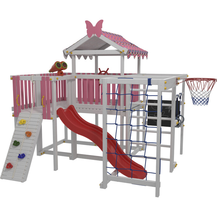 Детский домашний игровой комплекс Красная звезда чердак ДК3Р (розовый)