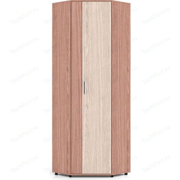цена на Шкаф Мебельный двор П5 ясень шимо светлый/ясень шимо темный угловой