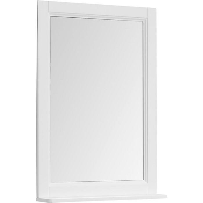 Зеркало с полкой Aquanet Бостон 61 белый (209675) премьер бостон 1100 2 белый зеркало зеркало