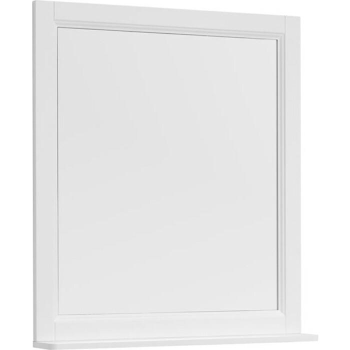 Зеркало с полкой Aquanet Бостон 78 белый (209676) премьер бостон 1100 2 белый зеркало зеркало