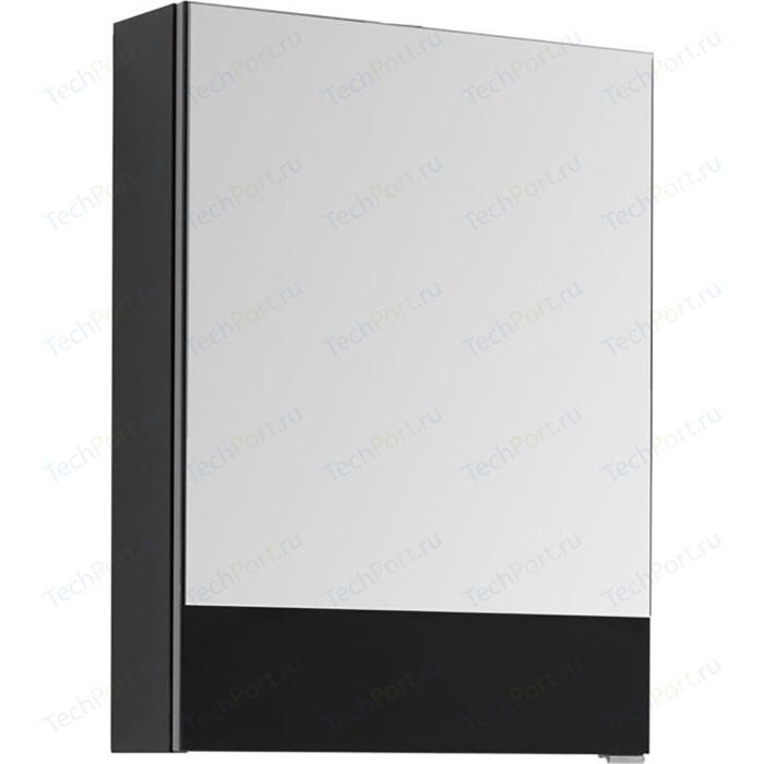 Зеркальный шкаф Aquanet Верона 50 черный (207764)