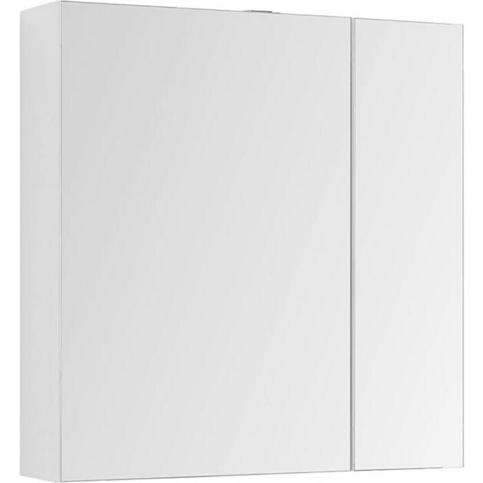 Зеркальный шкаф Aquanet Йорк 85 белый (202089)