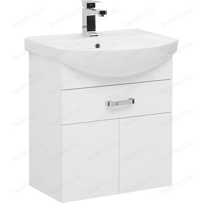 Тумба с раковиной Aquanet Ирис 60 белый 1 ящик, 2 дверцы (198381, 4620008196114)