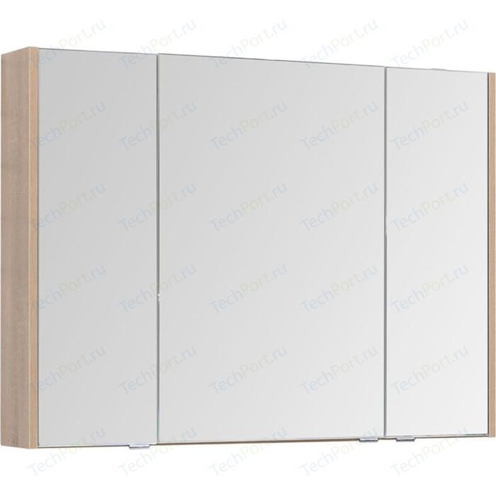 Зеркальный шкаф Aquanet Остин 105 дуб сонома/белый (201728)