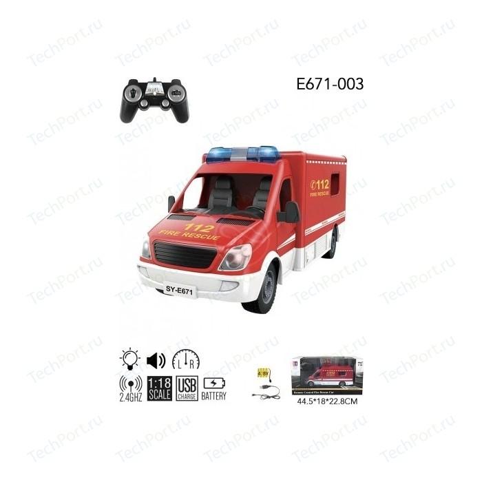 Радиоуправляемая машина Double Eagle Пожарная 2.4G