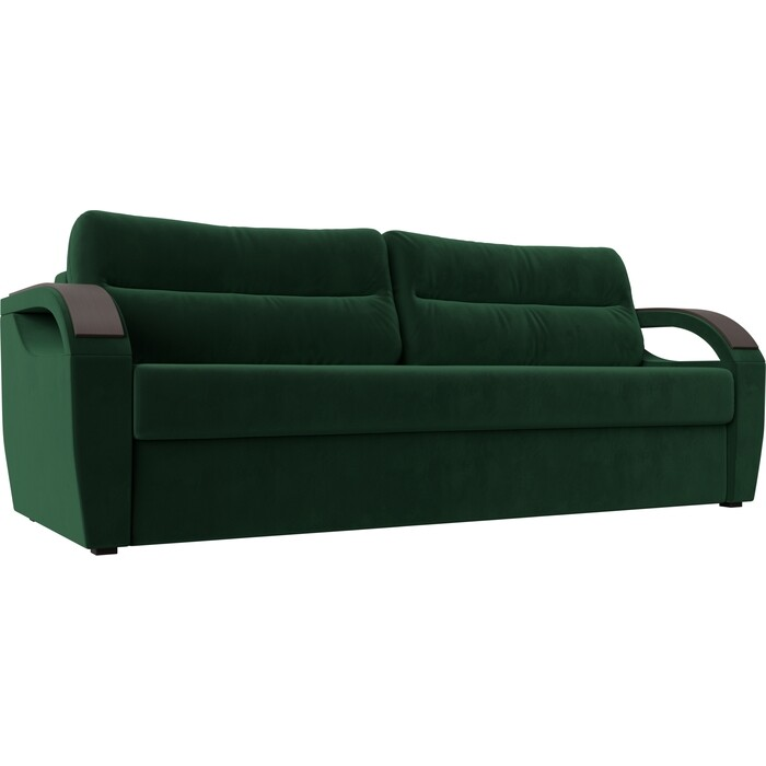 Прямой диван Лига Диванов Форсайт велюр MR зеленый