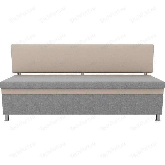Кухонный прямой диван АртМебель Стайл рогожка серый бежевый