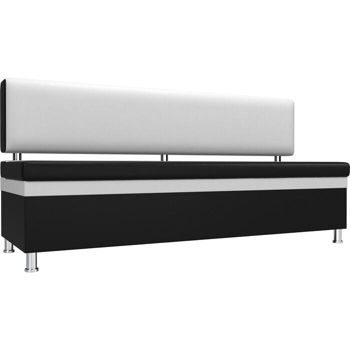 Фото - Кухонный прямой диван АртМебель Стайл эко кожа черный белый кухонный прямой диван артмебель стоун эко кожа черный белый