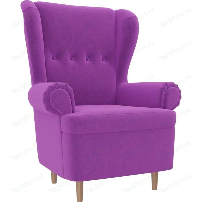 Кресло АртМебель Торин микровельвет фиолетовый