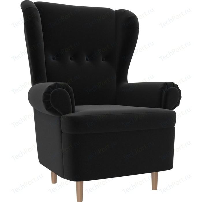 Кресло АртМебель Торин микровельвет черный