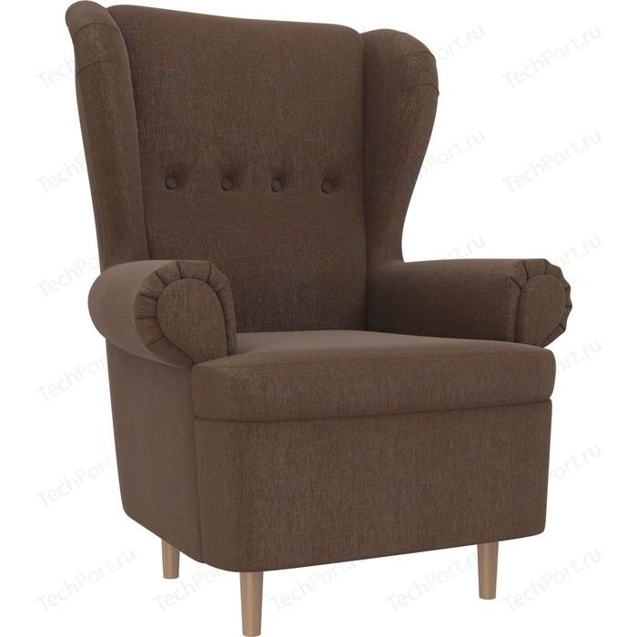 Кресло АртМебель Торин рогожка коричневый