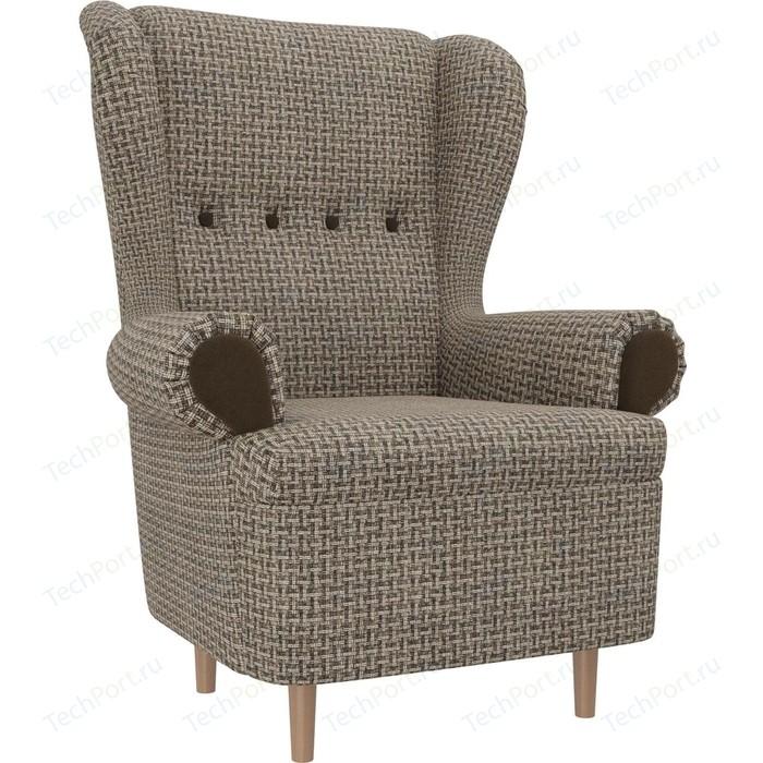 Кресло АртМебель Торин Корфу 03 подлокотники микровельвет коричневый