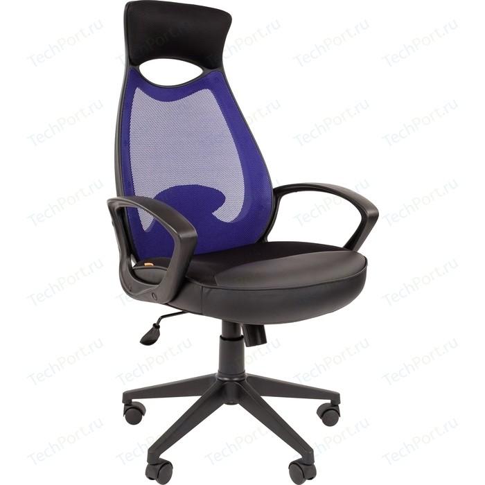 Офисноекресло Chairman 840 черный пластик TW-05 синий