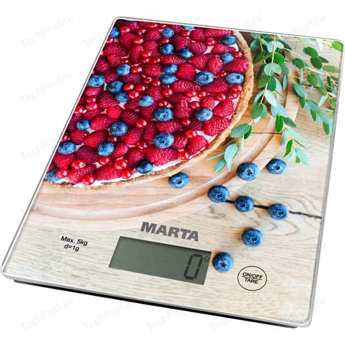 Весы кухонные Marta MT-1634 ягодный пирог