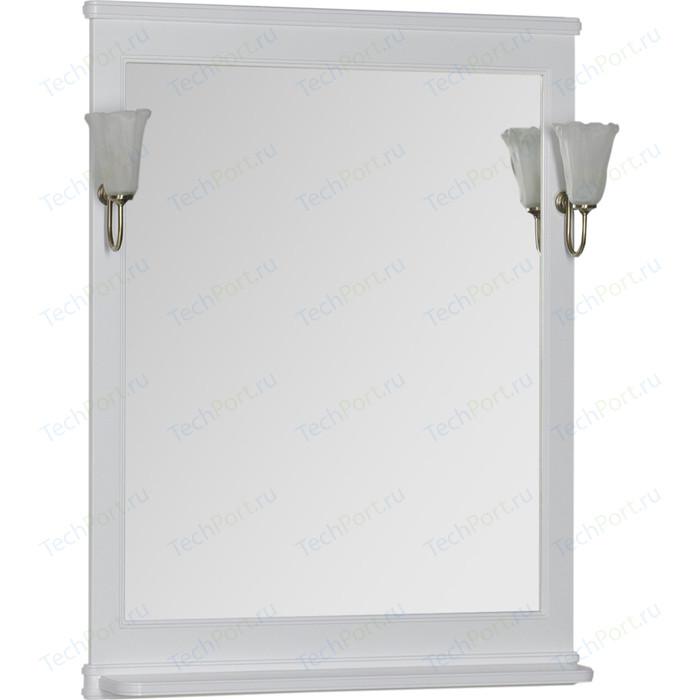 Зеркало Aquanet Валенса 70 с светильниками, белое (180150, 173024)