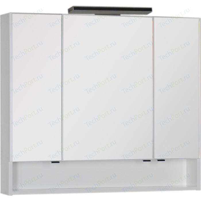 Зеркальный шкаф Aquanet Виго 100 с светильником, белый (183399, 181660)