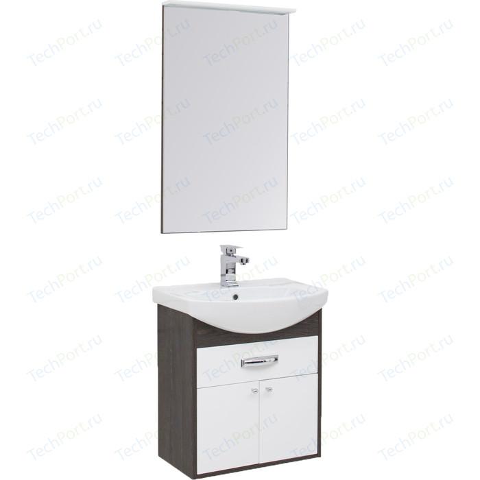 Мебель для ванной Aquanet Грейс 60 дуб кантербери/белый 1 ящик, 2 дверцы