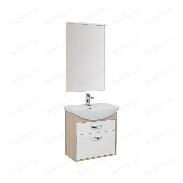 Мебель для ванной Aquanet Грейс 65 дуб сонома/белый 2 ящика