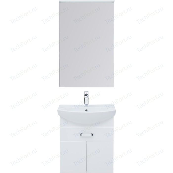 Мебель для ванной Aquanet Ирис 60 белый 1 ящик, 2 дверцы