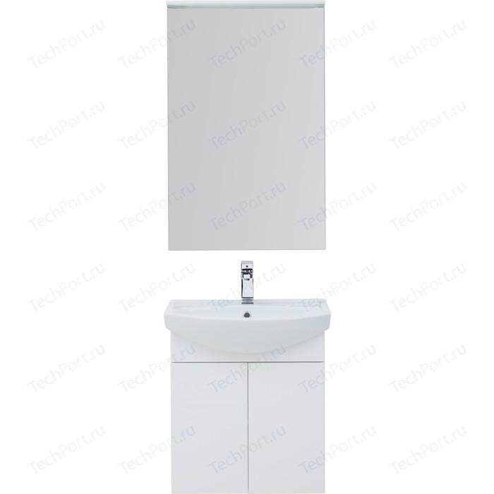 Мебель для ванной Aquanet Ирис 60 белый 2 дверцы