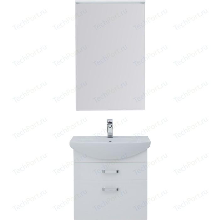 Мебель для ванной Aquanet Ирис 65 белый 2 ящика