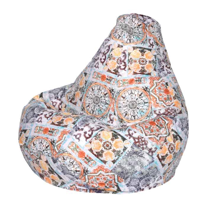 Кресло-мешок DreamBag Сиена терракот XL 125x85 кресло мешок dreambag гусиная лапка xl 125x85