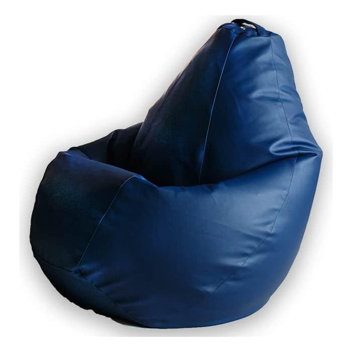 Кресло-мешок DreamBag Синяя экокожа XL 125x85