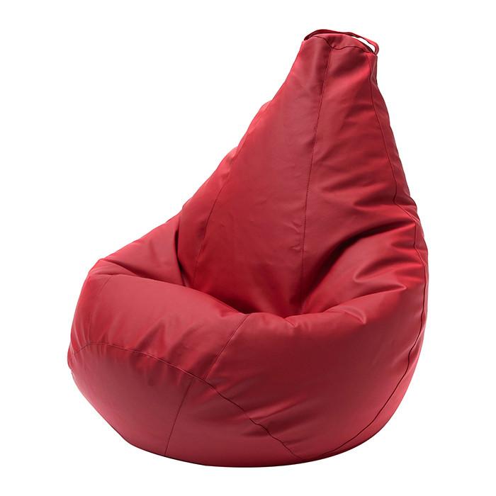 Кресло-мешок DreamBag Красная экокожа XL 125x85 кресло мешок dreambag гусиная лапка xl 125x85