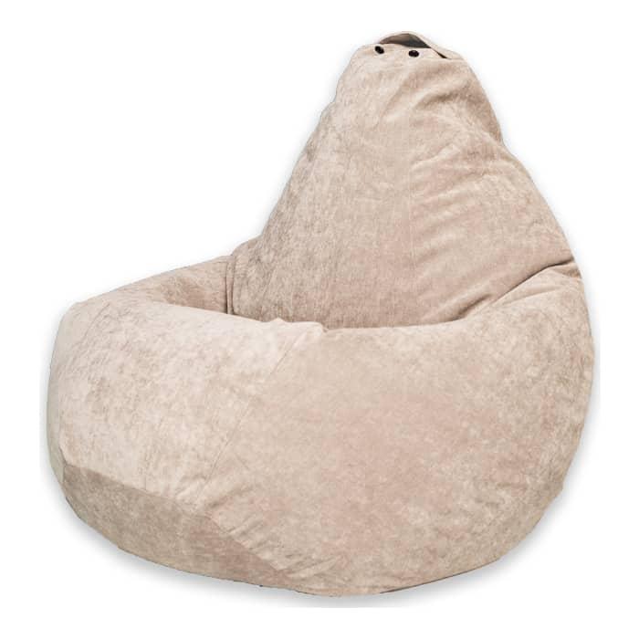 Кресло-мешок DreamBag Бежевый микровельвет XL 125x85 12storeez мешок 1637 001 бежевый