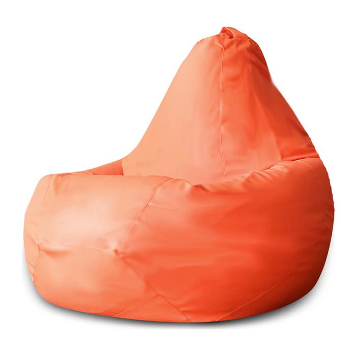 Кресло-мешок DreamBag Оранжевая экокожа 3XL 150x110